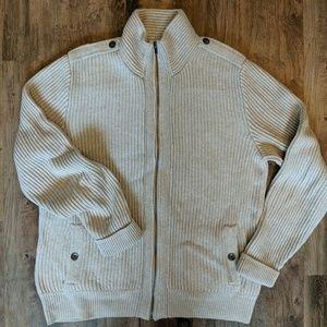 Men's full-zip gray Gap sweater XL